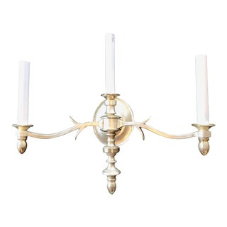 Thomas O'Brien for Visual Comfort Silver Three Light Chandler Sconce For Sale