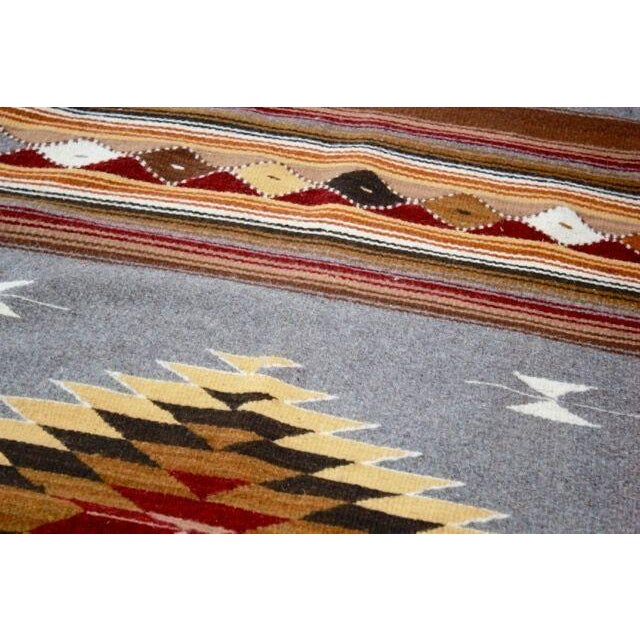 Mexican Pedal-Loom Gray Rug- 2′7″ × 4′10″ - Image 6 of 6