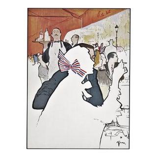 Mid-century Parisian Café Scene by Gruau