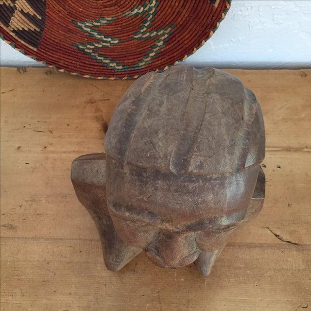 Vintage Hand Carved Female Bust Wood Sculpture - Image 8 of 9