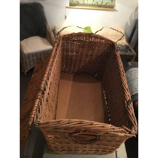 20th Century French Woven Wicker Basket For Sale - Image 11 of 13