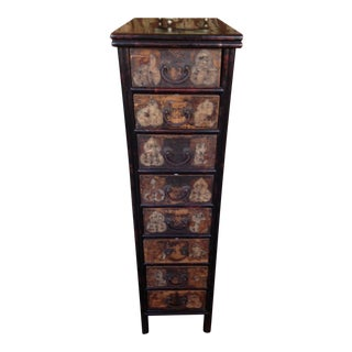 8 Drawer Chinese Tea Cabinet For Sale