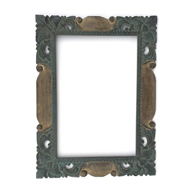 East Asian Hand Carved Mirror Frame - Image 1 of 5