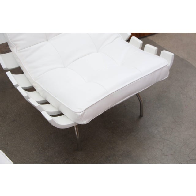 """Scala Luxury Pair of 1990's Scala Luxury """"Rib"""" Lounge Chairs With New Leather Cushions For Sale - Image 4 of 11"""
