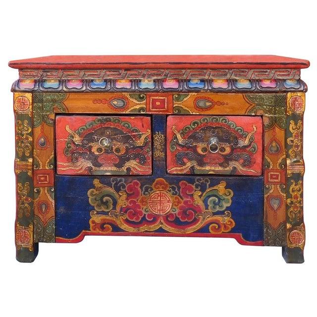 Chinese Tibetan Treasure Motif Small Cabinet - Image 1 of 6