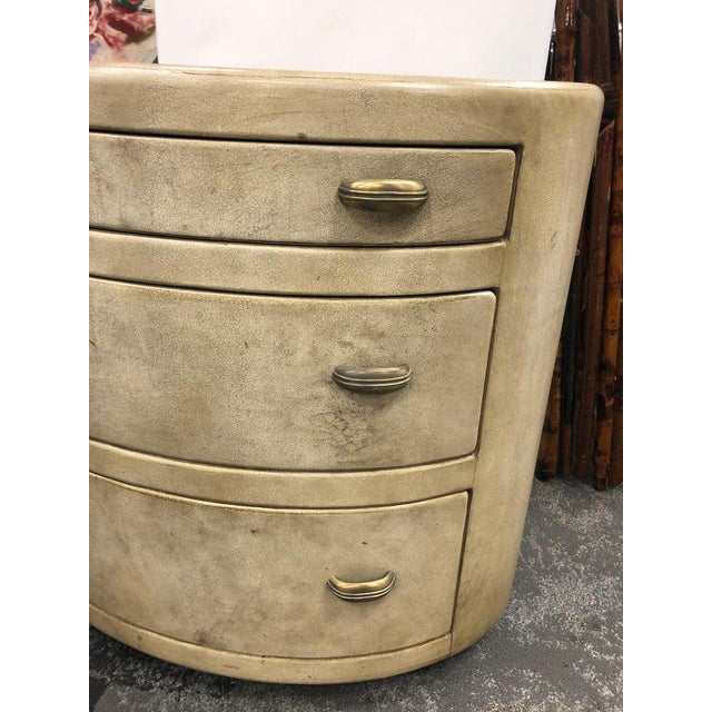 Mid-Century Italian Oval Leather Dresser For Sale - Image 4 of 7