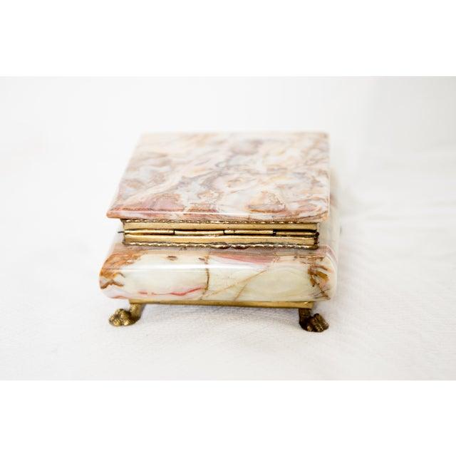 Italian Italian Marble Onyx Trinket Box For Sale - Image 3 of 6