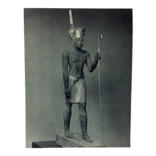 "Circa 1970 ""Pharaoh Nebhepetra Mentuhotpe"" Great Sculpture of Ancient Egypt Print For Sale"