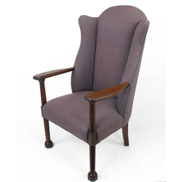 Late 1800s English Arts and Crafts Open Arm Wingback Chair - Image 2 of 7
