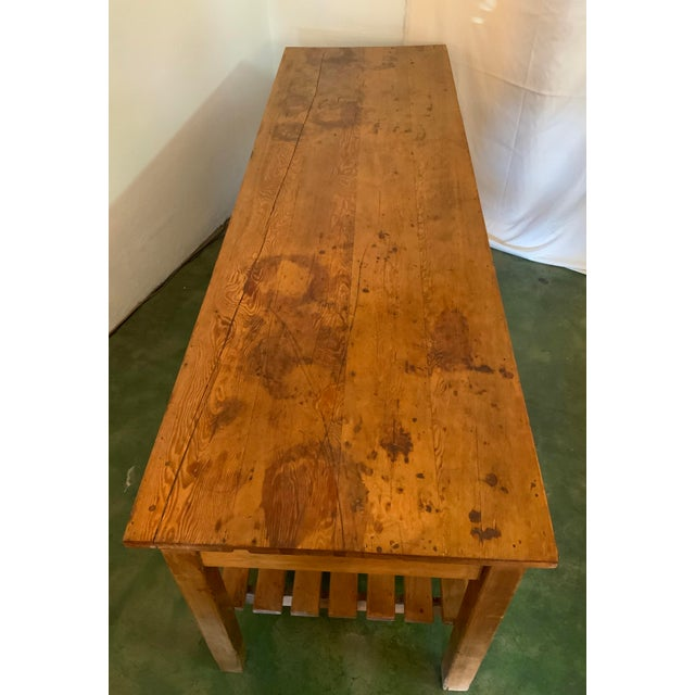 19th Century Rustic Pine Table / Sideboard For Sale - Image 9 of 13