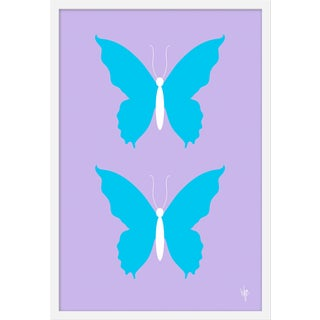 "Medium ""Butterfly Sky on Lilac"" Print by Wendy Concannon, 21"" X 31"" For Sale"