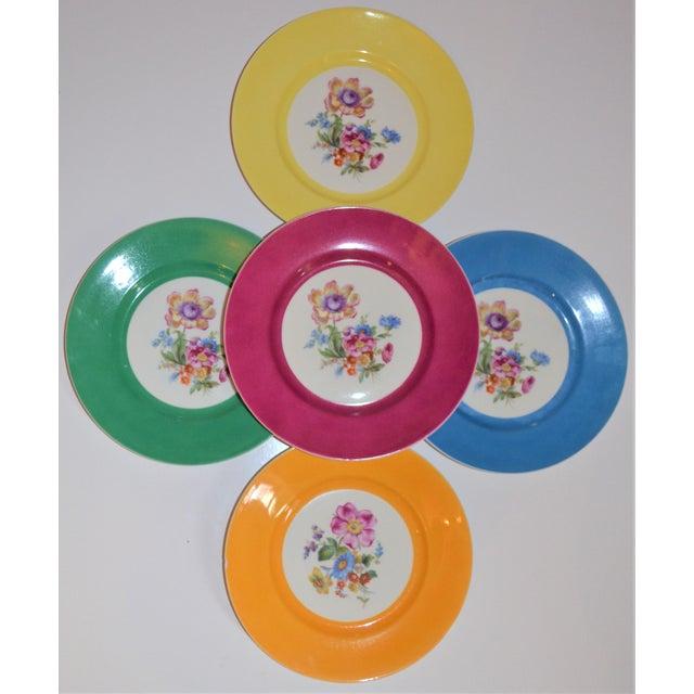 Vintage Richard Ginori Italian Botanical Porcelain Plates - Set of 5 For Sale - Image 9 of 12