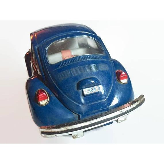 Vintage Volkswagen Beetle Decanter Jim Beam Collectible Metal VW Bug - Image 7 of 10