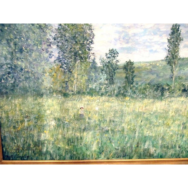 Impressionistic Landscape, Oil on Canvas Landscape, Martin Jewell For Sale - Image 4 of 5
