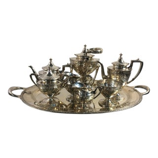 Early 20th Century Antique Wallace Sterling Silver Serving Tea Set - 8 Pieces For Sale