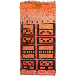 Contemporary Moroccan Geometric Rug - 3′ × 6′2″ For Sale