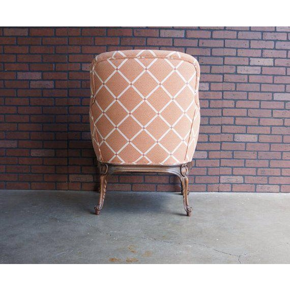 Early 20th Century Antique French Carved Upholstered Chair For Sale - Image 4 of 5