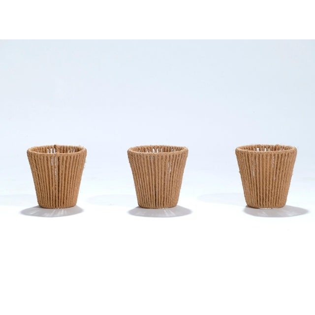 Adrien Audoux and Frida Minet Set of Three Audoux Minet Small Rope Shades, 1960s For Sale - Image 4 of 9