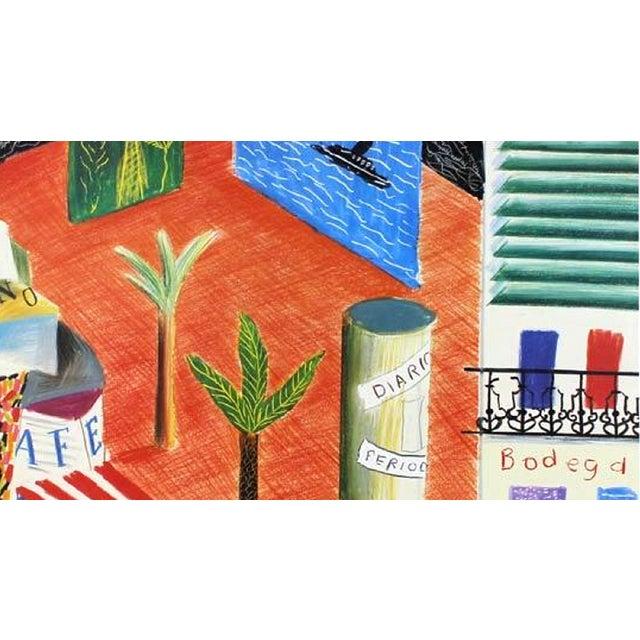 David Hockney 1982 Vintage David Hockney Miami Beach Arts Festival Exhibition Poster For Sale - Image 4 of 6