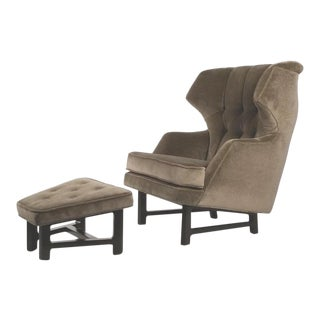 Wing-Back Lounge Chair Model 5761 Designed by Edward Wormley for Dunbar For Sale