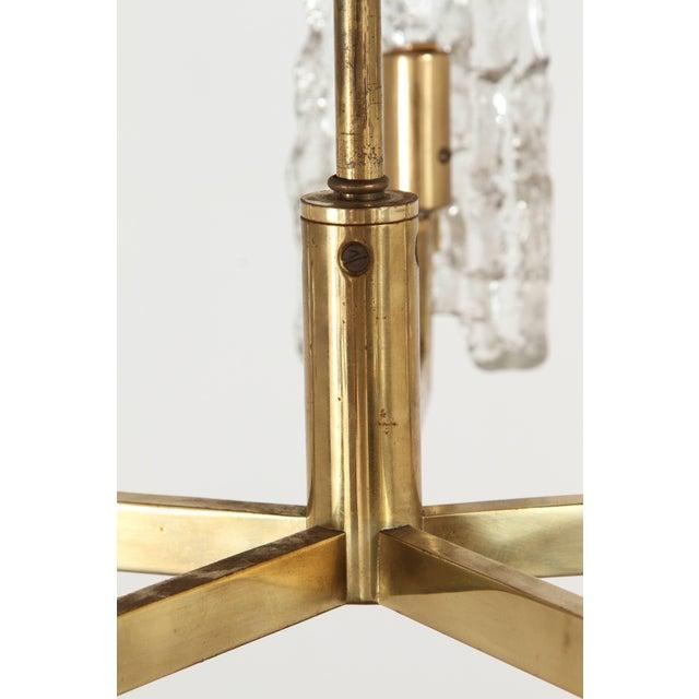 Kalmar Italian Glass Pendant With Kalmar Textured Glass Shades For Sale - Image 4 of 10