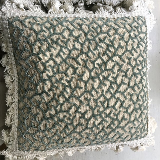 Transitional Fringed Pillows - Pair - Image 2 of 6