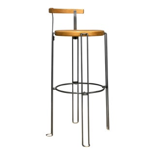 Mid 20th Century Designer Industrial Bar Stool by Borge Lindau for Bla Station For Sale
