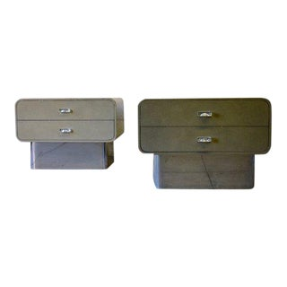 Mid Century / Hollywood Regency Lacquer + Lucite + Chrome Chests For Sale