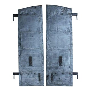 Late 19th Century Antique Distillery Metal Shutters- A Pair For Sale