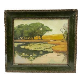 Antique English Country Oil Painting