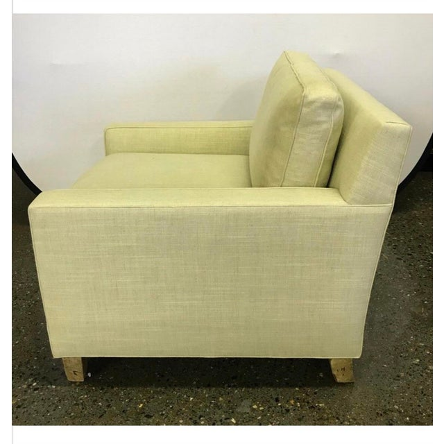 2000 - 2009 Hickory Chair Furniture Co. Mid-Century Modern Upholstered Lounge Chair For Sale - Image 5 of 12