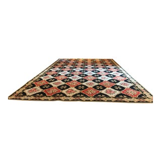 "Stark Wool Bordered Rug 16'8"" X 11'5"" For Sale"