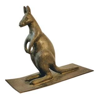 Australian Bronze Kangaroo Sculpture Figurine For Sale