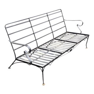 Mid Century Wrought Iron Sofa For Sale