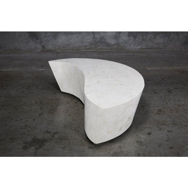 "Maitland - Smith 1990s Contemporary White Freeform Tessellated Stone ""Hampton"" Coffee Table For Sale - Image 4 of 13"