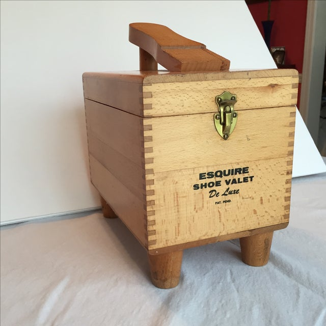 Esquire Shoe Valet DeLuxe Wooden Box - Image 4 of 11