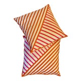 Image of Jonathan Adler Ribbon Pillows - A Pair For Sale