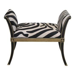 Maitland Smith #8105-42 Regency Zebra Bench For Sale