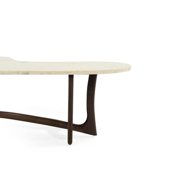 1950s Asymmetric Marble-Top Coffee Table by Adrian Pearsall For Sale - Image 9 of 10