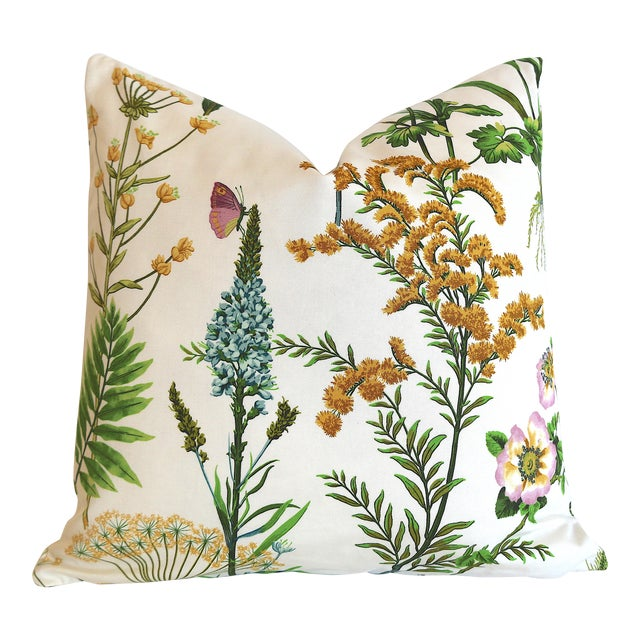 Fern Floral Pillow Cover 18x18 For Sale