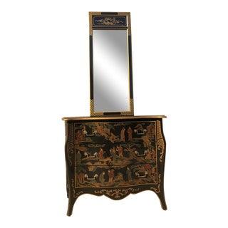 Drexel Heritage Et Cetera Chest & Mirror For Sale