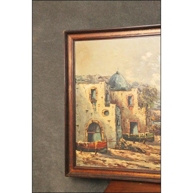 Vintage Impressionist Oil Painting of European Seascape - Image 9 of 11
