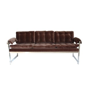 Late 20th Century Vintage Milo Style Loveseat For Sale