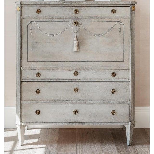 Late 18th Century 1790s Gustavian Secretary Desk For Sale - Image 5 of 5