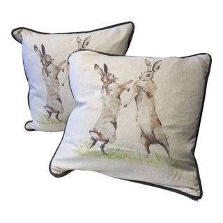 Playing Rabbit Pillows - a Pair For Sale
