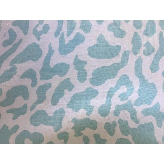 3.5 Yards Quadrille China Seas Zeze Leopard Fabric - Light Turquoise