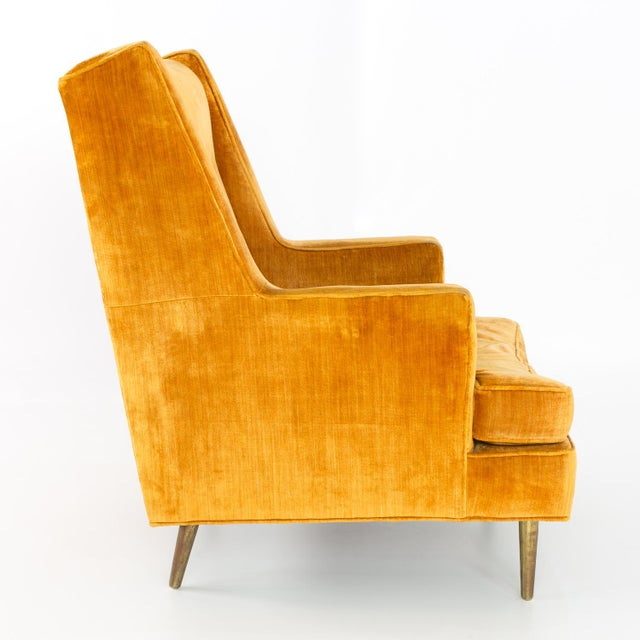Mid Century Edward Wormley for Dunbar Chair and Ottoman For Sale - Image 12 of 13