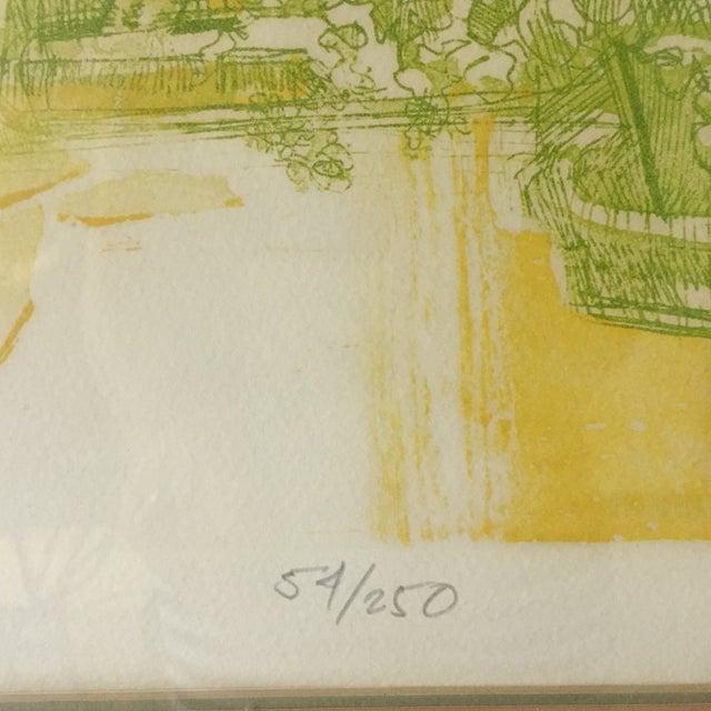 """Floridian Gates"" Framed Intaglio Etching - Image 5 of 10"