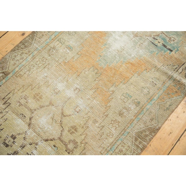 "Vintage Distressed Oushak Rug Runner - 3'2"" X 9'2"" - Image 7 of 11"