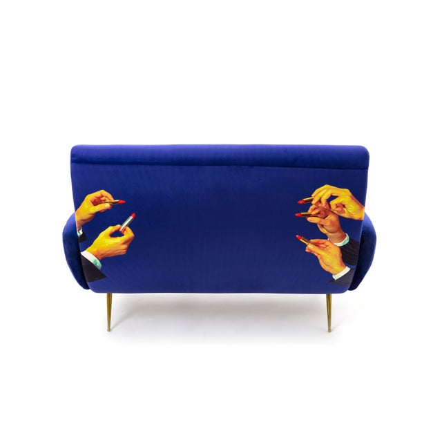 Maurizio Cattelan Seletti, Lipsticks Loveseat, Blue, Toiletpaper, 2018 For Sale - Image 4 of 5